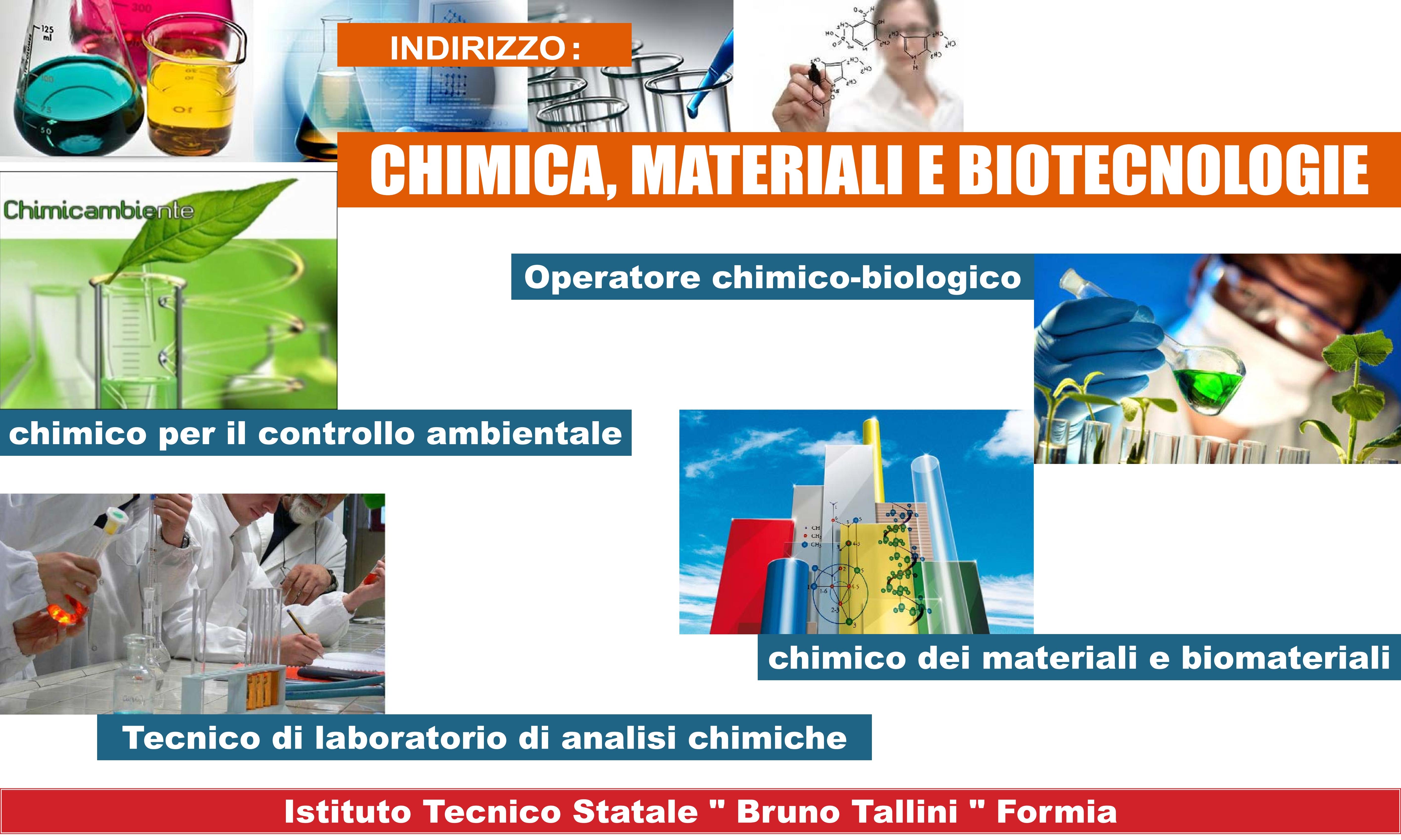 Locandina Chimica,Materiali e Biotecnologie - articolazione chimica ambientale